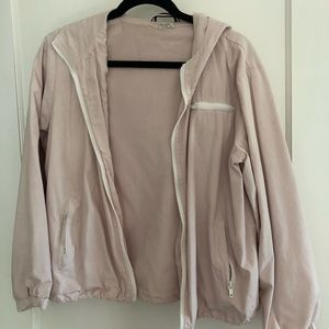John Galt light pink windbreaker jacket
